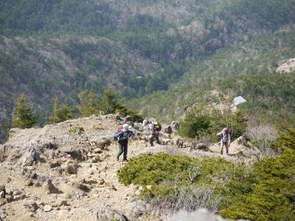 5合目の小屋からの登り