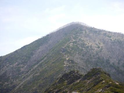 9合目から見える山頂