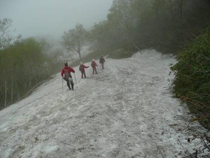 帰りの雪渓