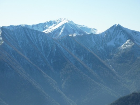 中央幌尻岳と右戸蔦別岳