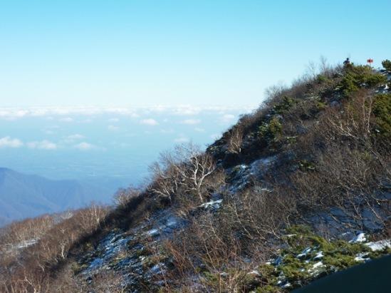 右上が伏美岳山頂