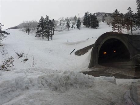 登山口の日勝トンネル