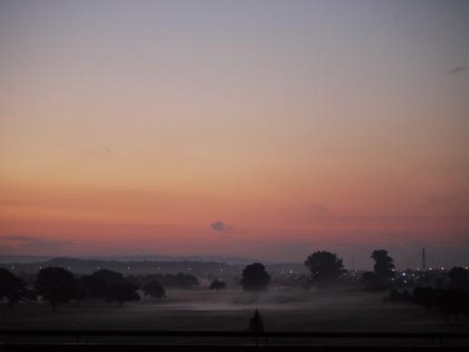 平原大橋の川霧