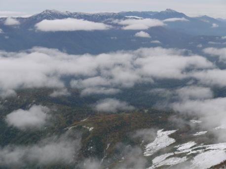 ニペソツ山、石狩連山方向