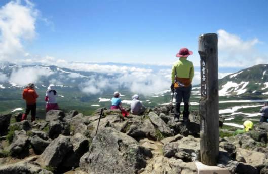 s2013-08-03 赤岳~黒岳縦走 109山頂からの絶景